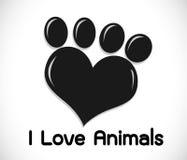 Animals Foot paw prints Royalty Free Stock Photo