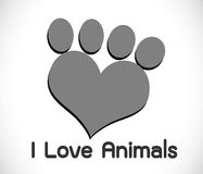 Animals Foot paw prints Stock Images