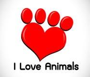 Animals Foot paw prints Stock Image