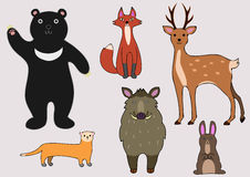Animals of the forest Royalty Free Stock Images