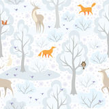 Animals and forest pattern Stock Photos