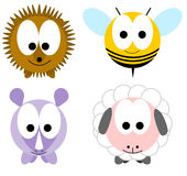 Animals. Four Color Animals front illustration royalty free illustration