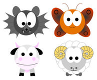 Animals. Four Color Animals front illustration vector illustration