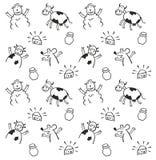 Animals. Funny animals seamless B&W pattern Royalty Free Stock Photography