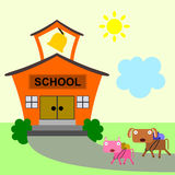 Animals go to school Stock Photography