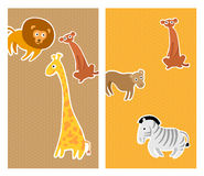 Animals greetings card Stock Photo