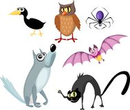 Animals halloween set Stock Photography