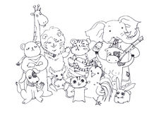 Animals hand doodle illustration Stock Photo