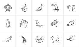Animals hand drawn sketch icon set. Stock Photography