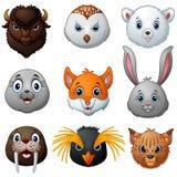 Animals head cartoon collection Stock Photography