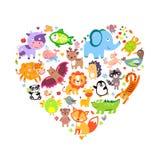 Animals Heart royalty free illustration