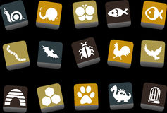 Animals Icon Set royalty free illustration