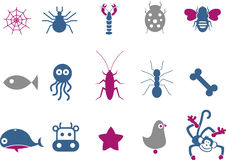 Animals Icon Set Royalty Free Stock Photo