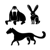 Animals icon set Stock Photography