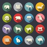 Animals icon set Stock Image