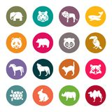 Animals icon set. Vector Illustration Royalty Free Stock Image