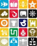 Animals icons Stock Image