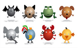Animals icons Royalty Free Stock Photo