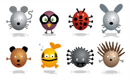 Animals icons Royalty Free Stock Photography