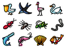Animals icons royalty free stock images