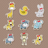 Animals icons Stock Images