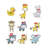 Animals icons Stock Image