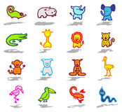 Animals icons set 3 Stock Image