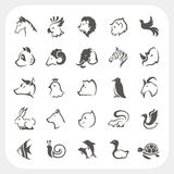Animals icons set Royalty Free Stock Photos