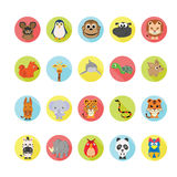 Animals icons set. Stock Image