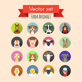 Animals icons Stock Photo