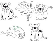 Animals illustration Royalty Free Stock Image