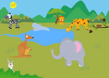 Animals. Illustration of group of animal Vector Illustration