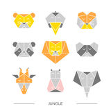 Animals jungle origami 10 Stock Photo