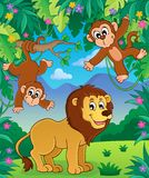 Animals in jungle topic image 3 Stock Image