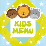 Animals kids menu Royalty Free Stock Photos