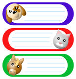 Animals labels set (02) Stock Images