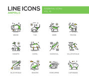 Animals - line design icons set Royalty Free Stock Image