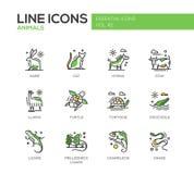 Animals - line design icons set Royalty Free Stock Photo