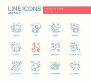 Animals - line design icons set Stock Images