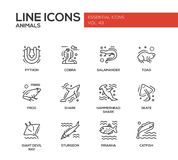 Animals - line design icons set Royalty Free Stock Photography