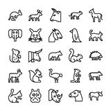 Animals Line Vector Icons 1 Stock Images