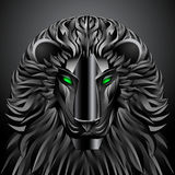 Animals lion black technology cyborg  metal robot Stock Photo
