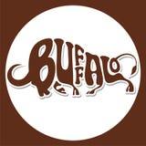 Animals logo-buffalo royalty free illustration