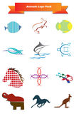 Animals Logo Pack Royalty Free Stock Photo