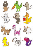 Animals Look Side Set_eps vector illustration