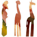 Animals. Low poly silhouette animals on white background Royalty Free Stock Images