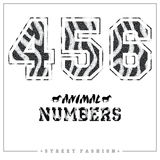 Animals mosaic numbers for t-shirts, posters, card and other uses. Stock Images