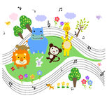 Animals music Royalty Free Stock Image