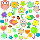 Animals and nature design elements. vector Stock Images