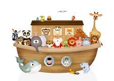 Animals on Noah's ark. Illustration of animals on Noah's ark Royalty Free Stock Photo